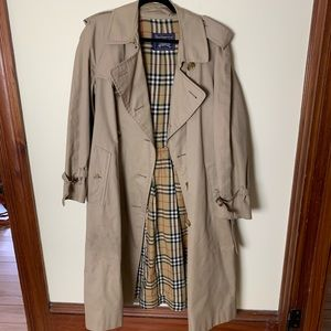 Vintage Burberry Double Breasted Trench Coat